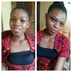 Before and after pix of an usher @ an event...makeup by Emel makeover