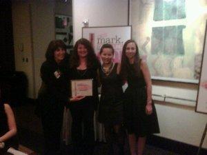 Natalie receiving her award