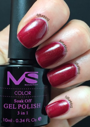 Deep Red gel polish from the Melody Susie Starter Kit