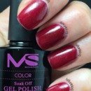 Deep Red Gel Nails