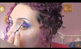 Colourful Eyeshadow Tutorial (Purple Blue and Green with Sugarpill)