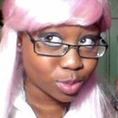 More fun with the silly pink wig