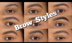 BROW STYLES - USING DIFFERENT TECHNIQUES AND PRODUCTS | ChristineMUA