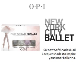 woah. OPI's got an NYC Ballet Lacquer line? i haven't even gotten my hands on their Holland collection yet? D: