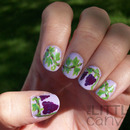 Grape Vine Nail Art