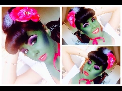Halloween Inspired Frankenstein Wife Pin Up Cartoon Hair