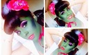 Halloween Inspired: Frankenstein Wife Pin-up/ Cartoon hair and makeup | NellysLookBook