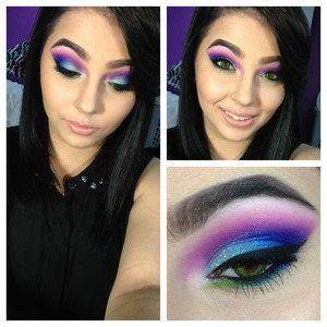 All eyeshadow used are sugarpill.  Glitter is Lorac 3d liquid lusture