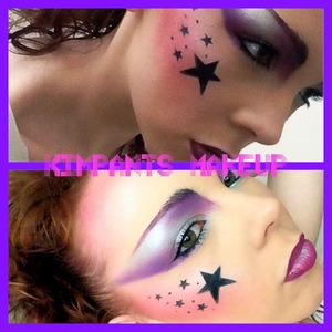 Been asked to do some makeup for a theatre show. Has to be 80s style, can be as elaborate as I want. I wasn't born in the 80s so I've tried to get some ideas of ze interweb and this is what I've come up with. What do you think?  http://www.youtube.com/kimpantsmakeup