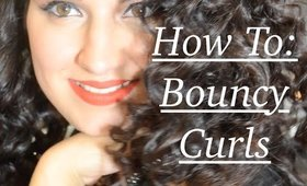 Hair Tutorial || Bouncy Curls