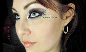 The Good Goth - Glittery Purple and Dark Triple Wing Eye Makeup Tutorial - The Eyes Have It