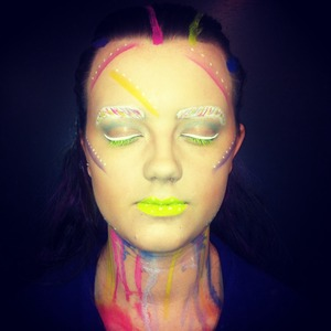 Did this today in college as part as my makeup artist inspiration look! What do you think?