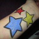 Star Face Painting Practice