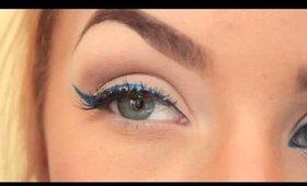 POP of Color   Bright Blue Eyeliner
