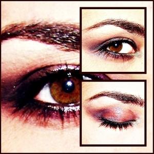smokey brown/purple wet eye