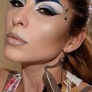 Carnaval Makeup Blue