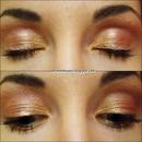 Gold and Pink make up