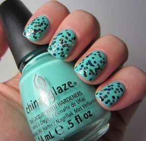 Spoiled Peacock Feathers over China Glaze Aquadelic