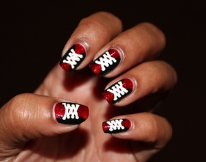 It started out as corset nails but turned like a cross between that and sneakers! Oopsie http://www.chinadolltt.blogspot.com/2012/08/corset-or-sneakers-nails-you-decide.html