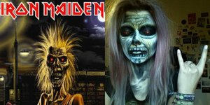 Make up of the mascotte of iron maiden (first album)