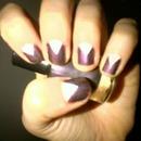 Metallic purple and white!