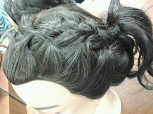 front/top of braided updo