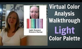 Light Summer Color Palette - Virtual Color Analysis | Cool Skin Undertone | What Colors Work for You