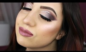 Dramatic Smokey Eye With Glitter:  Kylie Cosmetics Holiday Palette Talk Through Tutorial