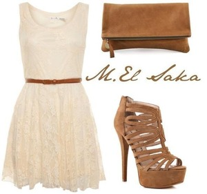 A plain basic look simple dress with nice heels love it