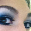 Double winged smokey blue eyes
