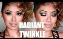 Prom Make Up : Radiant Twinkle Glitter Eyes