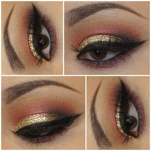 A glittery look that can be perfect for the Holidays.