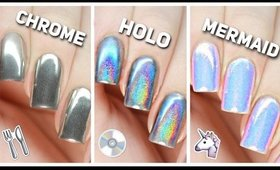 Apply Chrome, Holo, & Mermaid Nail Powders PERFECTLY!