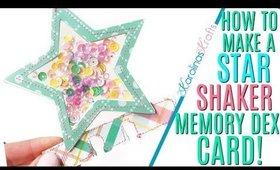 How to Make a Star Shaker Memory Dex Card using SVG file by Shara Crane, Easter Shaker Memdex