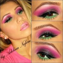 Pink, Purple And Green