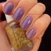 Purple with golden glitter