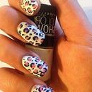 My leopard design nails