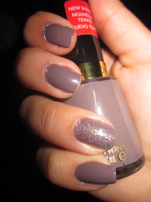 New Revlon 360 - Mischievous  Top coat of Revlon 340 - Stunning on one nail :)