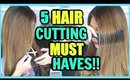 5 HAIR CUTTING TOOLS YOU NEED FOR CUTTING HAIR AT HOME! │ HAIR CUT MUST HAVES!