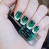 Green Chevron Nails