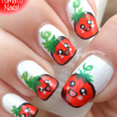 Kawaii Tomato Nail Art ◕‿◕ かわいい!
