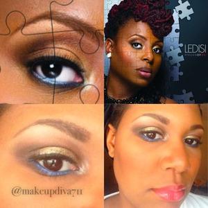 Colorful makeup Ledisi look blue