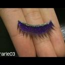 DIY Glitter Lashes. :)
