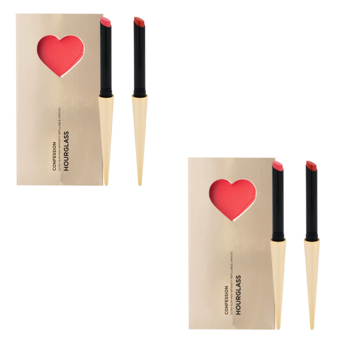 Hourglass Confession Ultra Slim High Intensity Refillable Lipstick Valentine's Day Set (Buy One, Get One) alternative view 1 - product swatch.