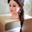 Bridal french braid and fishtail plait