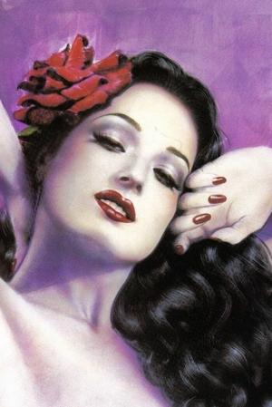 Dita Von Teese, watercolor by Olivia. Make Up by Darilynn