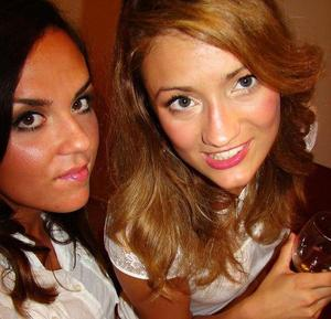my friend and I...I did makeup :) for girls night out!