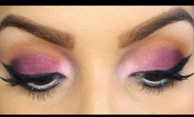Purple & Sparkles - Wearable look for brown eyes