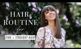 Hair Routine For Fine, Straight Hair | ft. Margo&Me | Luxy Hair