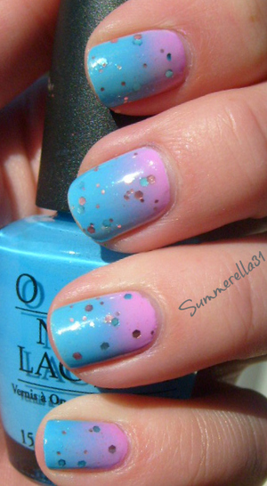 OPI No Room For the Blues, China Glaze Dance Baby and Revlon Whimsical